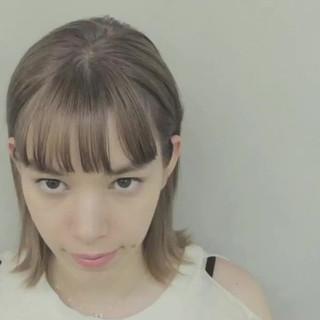 ミルクティー グレージュ ミルクティーベージュ ボブ ヘアスタイルや髪型の写真・画像