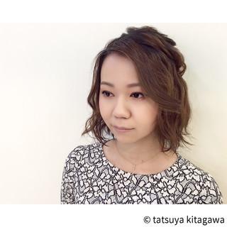ゆるふわ フェミニン ダブルカラー 二次会 ヘアスタイルや髪型の写真・画像