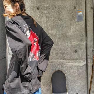 スポーツ ヘアアレンジ ストリート ハイトーン ヘアスタイルや髪型の写真・画像
