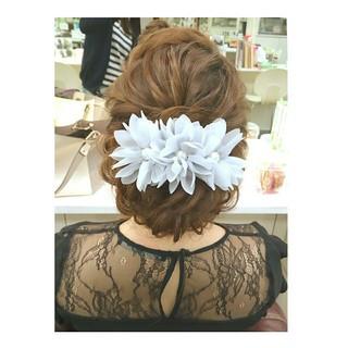 ヘアアレンジ デート 結婚式 パーティ ヘアスタイルや髪型の写真・画像