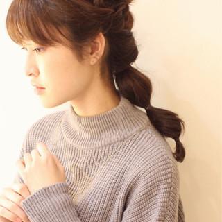 かわいい ゆるふわ ショート ハーフアップ ヘアスタイルや髪型の写真・画像