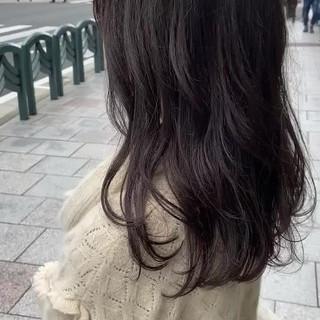 アッシュグレージュ フェミニン 大人ハイライト ブラウンベージュ ヘアスタイルや髪型の写真・画像