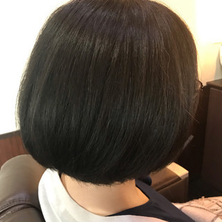 フェミニン ボブ ミニボブ ヘアスタイルや髪型の写真・画像