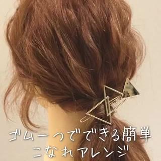時短 ポニーテール 簡単 ショート ヘアスタイルや髪型の写真・画像