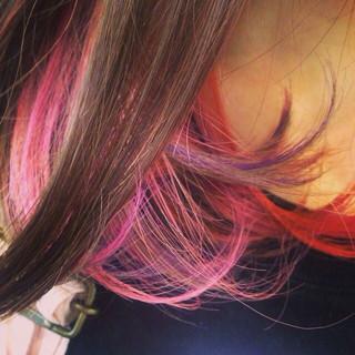 ストリート グラデーションカラー パーマ 外国人風 ヘアスタイルや髪型の写真・画像