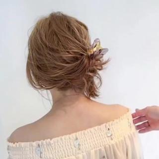ショート 女子会 簡単ヘアアレンジ ナチュラル ヘアスタイルや髪型の写真・画像