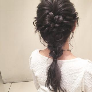 結婚式 ヘアアレンジ デート ロング ヘアスタイルや髪型の写真・画像 ヘアスタイルや髪型の写真・画像