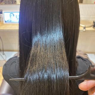 アンニュイ イルミナカラー 銀座美容室 ロング ヘアスタイルや髪型の写真・画像