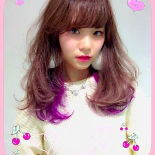 ゆるふわ セミロング ナチュラル モテ髪 ヘアスタイルや髪型の写真・画像