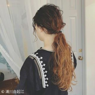 大人かわいい ロング ヘアアレンジ ゆるふわ ヘアスタイルや髪型の写真・画像