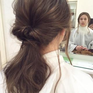 ヘアアレンジ 簡単ヘアアレンジ ショート セミロング ヘアスタイルや髪型の写真・画像