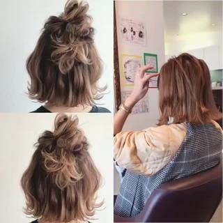 謝恩会 ストリート ショート 簡単ヘアアレンジ ヘアスタイルや髪型の写真・画像