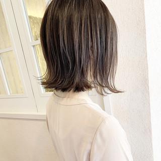 ハイライト ミニボブ ショートボブ ボブ ヘアスタイルや髪型の写真・画像
