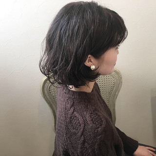 パーマ エアリー ボブ 冬 ヘアスタイルや髪型の写真・画像