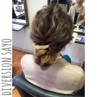ナチュラル ヘアアレンジ ゆるふわ 編み込み ヘアスタイルや髪型の写真・画像