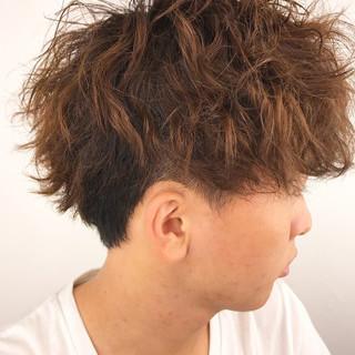 メンズパーマ ストリート ショート メンズショート ヘアスタイルや髪型の写真・画像