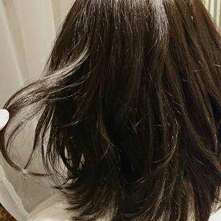 ボブ ミディアム 大人かわいい 黒髪 ヘアスタイルや髪型の写真・画像