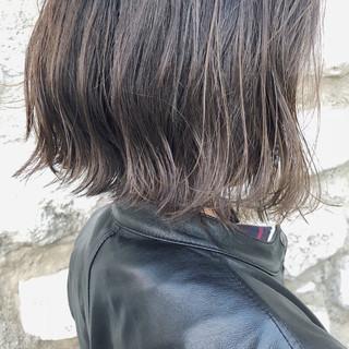 ハイライト 透明感 ボブ モード ヘアスタイルや髪型の写真・画像