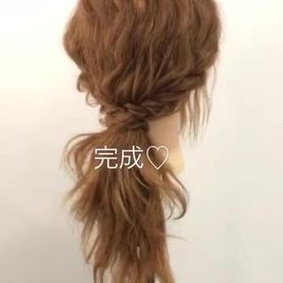 ヘアアレンジ ショート セミロング 大人かわいい ヘアスタイルや髪型の写真・画像