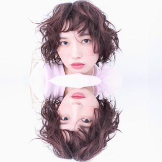 透明感 冬 外国人風 ボブ ヘアスタイルや髪型の写真・画像