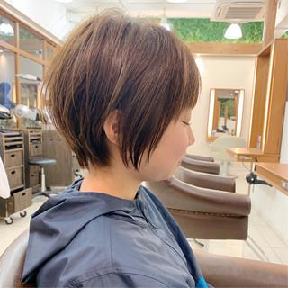ショートヘア ナチュラル 可愛い ふんわり ヘアスタイルや髪型の写真・画像