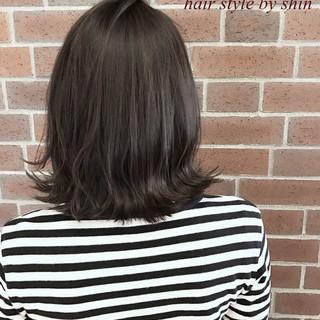 ミルクティー デート 黒髪 ボブ ヘアスタイルや髪型の写真・画像