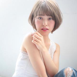 秋 大人女子 透明感 ボブ ヘアスタイルや髪型の写真・画像
