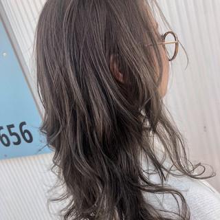 ロング ウェーブ デート エレガント ヘアスタイルや髪型の写真・画像