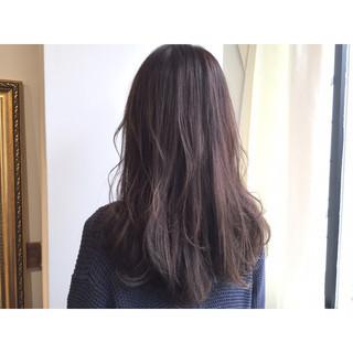透明感 ストレート 暗髪 ロング ヘアスタイルや髪型の写真・画像
