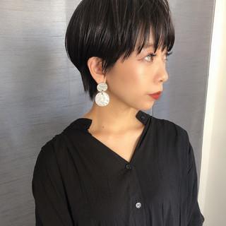 ショートヘア 黒髪ショート ベリーショート モード ヘアスタイルや髪型の写真・画像