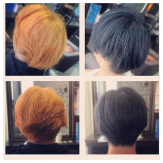 ストリート アッシュ ショート メンズ ヘアスタイルや髪型の写真・画像