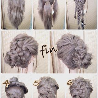 ロング お団子 和装 アップスタイル ヘアスタイルや髪型の写真・画像 ヘアスタイルや髪型の写真・画像