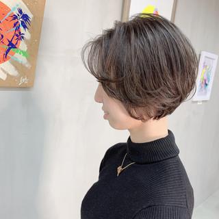 ナチュラル ボブ ミニボブ ウルフカット ヘアスタイルや髪型の写真・画像