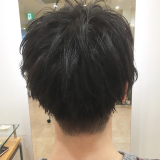 メンズショート マッシュ 刈り上げ メンズ ヘアスタイルや髪型の写真・画像