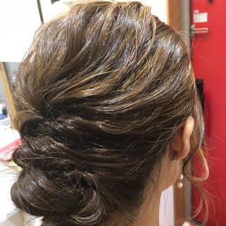 結婚式 外国人風カラー ロング 外国人風 ヘアスタイルや髪型の写真・画像