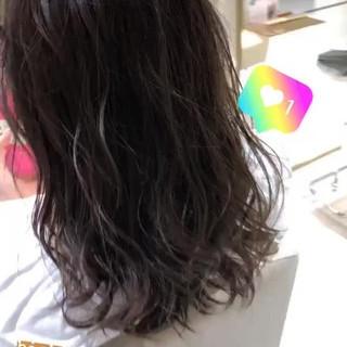 ハイライト 大人ミディアム ミディアム 3Dハイライト ヘアスタイルや髪型の写真・画像
