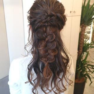 ロング 大人かわいい 結婚式 大人女子 ヘアスタイルや髪型の写真・画像