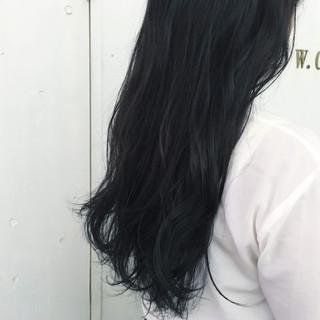 ブルージュ ブルー ロング 暗髪 ヘアスタイルや髪型の写真・画像 ヘアスタイルや髪型の写真・画像