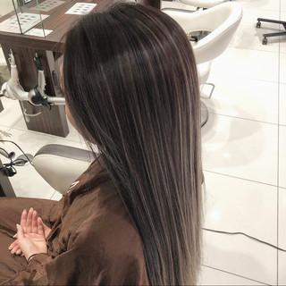 外国人風カラー デート バレイヤージュ モード ヘアスタイルや髪型の写真・画像