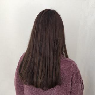 ロング スモーキーカラー 簡単ヘアアレンジ ナチュラル ヘアスタイルや髪型の写真・画像