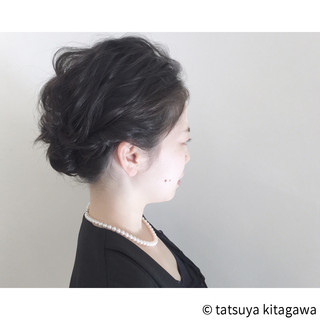 結婚式 エレガント 黒髪 ボブ ヘアスタイルや髪型の写真・画像