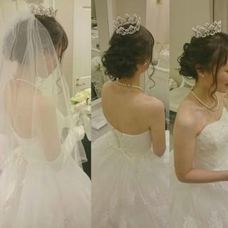 ドレス ブライダル ヘアアレンジ 大人かわいい ヘアスタイルや髪型の写真・画像 ヘアスタイルや髪型の写真・画像