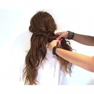 ヘアアレンジ ロング デート 女子会 ヘアスタイルや髪型の写真・画像