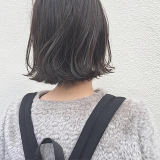 ナチュラル こなれ感 ロブ 外ハネ ヘアスタイルや髪型の写真・画像