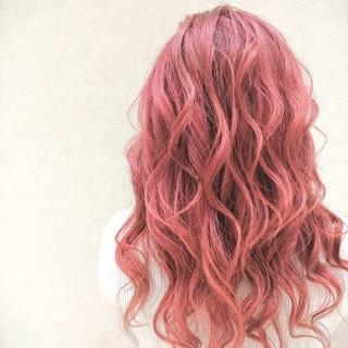 ガーリー ロング かわいい ブリーチ ヘアスタイルや髪型の写真・画像