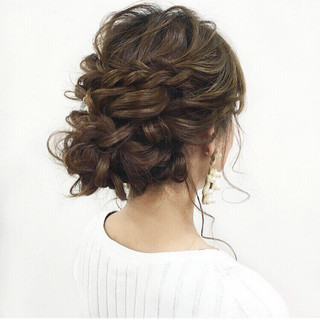 結婚式 パーティ ガーリー 大人かわいい ヘアスタイルや髪型の写真・画像