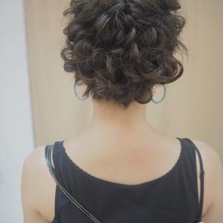 成人式 結婚式 ナチュラル 編み込み ヘアスタイルや髪型の写真・画像