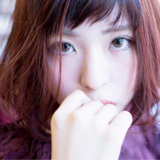 ラベンダーピンク ナチュラル ピンク ピュア ヘアスタイルや髪型の写真・画像