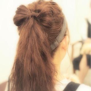 大人かわいい ロング かわいい 簡単ヘアアレンジ ヘアスタイルや髪型の写真・画像