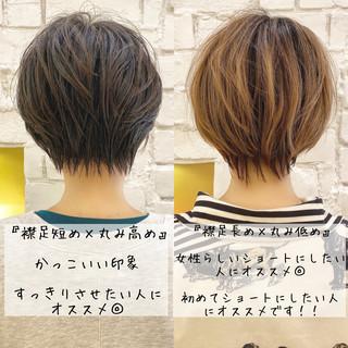 ナチュラル ショートヘア ミニボブ ショート ヘアスタイルや髪型の写真・画像